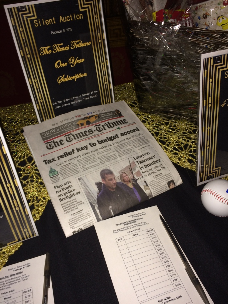 American Heart Association 2015 Silent Auction, Wilkes-Barre, Pennsylvania