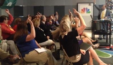 Presenting at an NBC Station