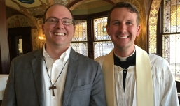 With Fr. Briggs Hurley at his Ordination