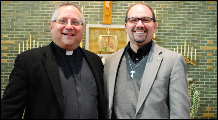 With Fr. Bob Simon at Sr. Joseph Fraternity of the Secular Franciscan Order